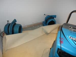 water damage restoration in basement
